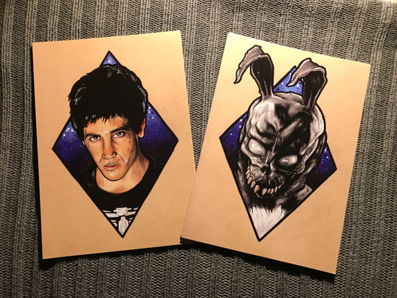 Painted Prints of Donnie Darko and Frank