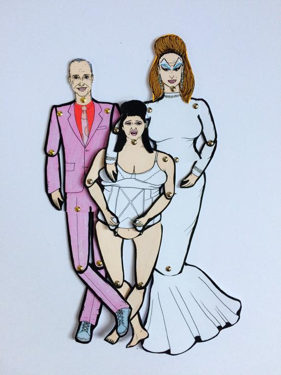 Paper Dolls of John Waters, Divine Pink Flamingos