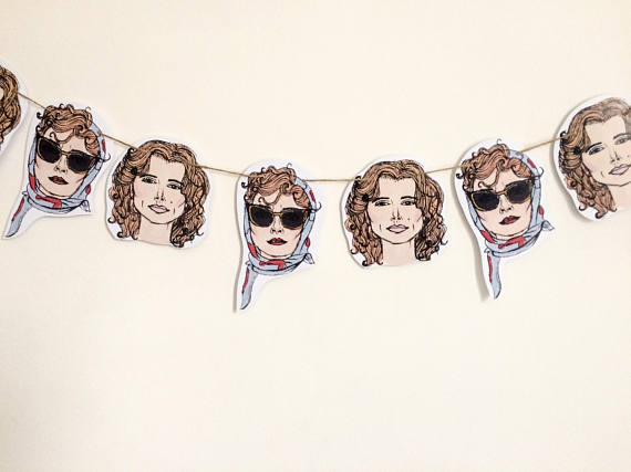 Hand Illustrated paper bunting of thelma and louise from etsy