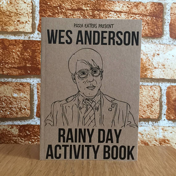Wes Anderson Rainy Day Activity Book Etsy Gift Idea