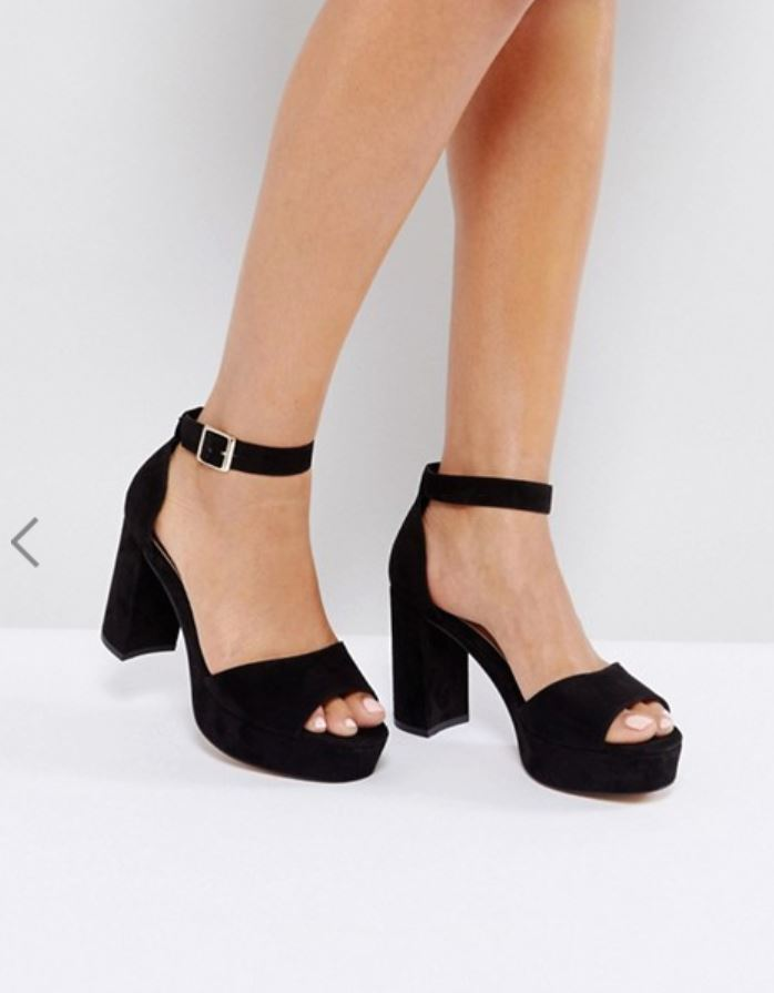 Asos Black Platform Heel Marla Singer Fight Club Style