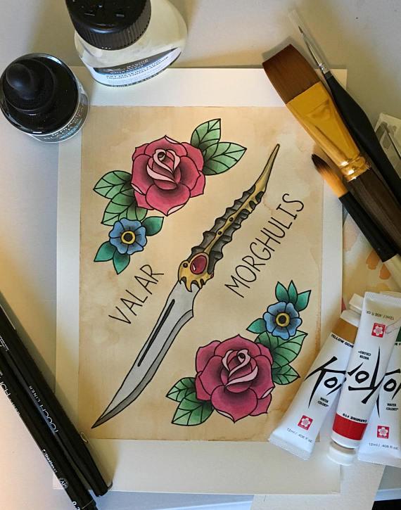 GOT Game of Thrones Tattoo Flash