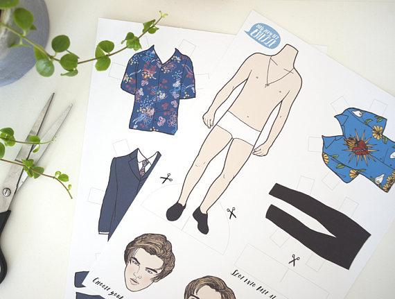 Leonardo DiCaprio - Romeo and Juliet Paper Doll christmas gift idea