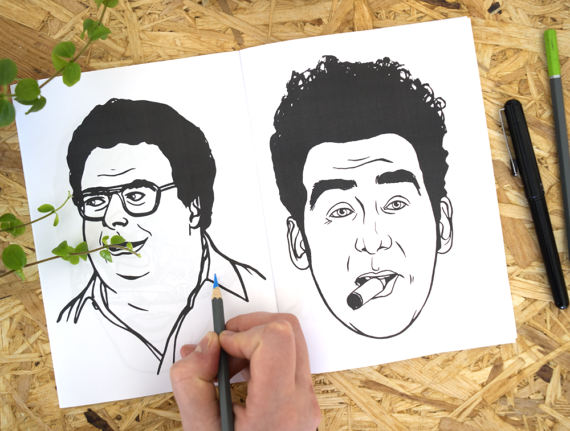Seinfeld Coloring Book Christmas Gift Ideas Etsy