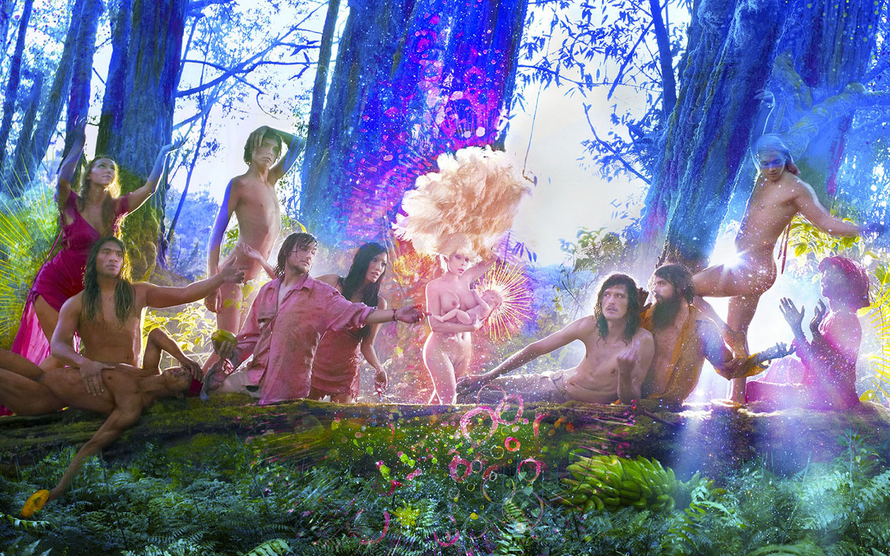 The First Supper by David LaChapelle from the New World Collection
