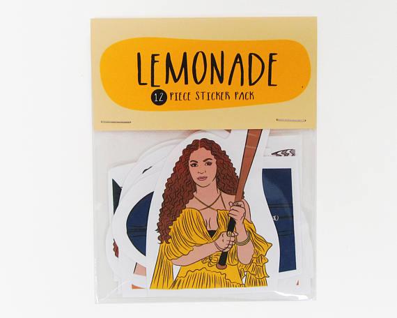 Beyonce lemonade sticker set christmas gift idea