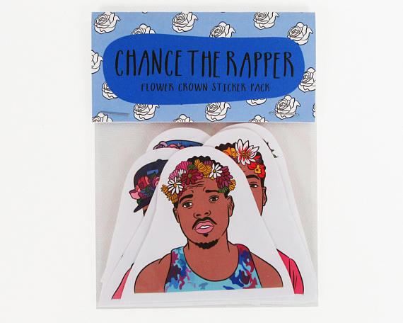 Chance the Rapper Sticker Set Christmas Gift Idea Etsy