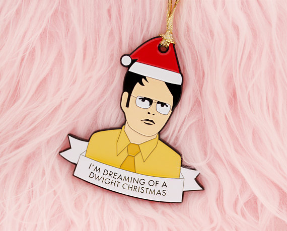 Dwight K Schrute Christmas ornament