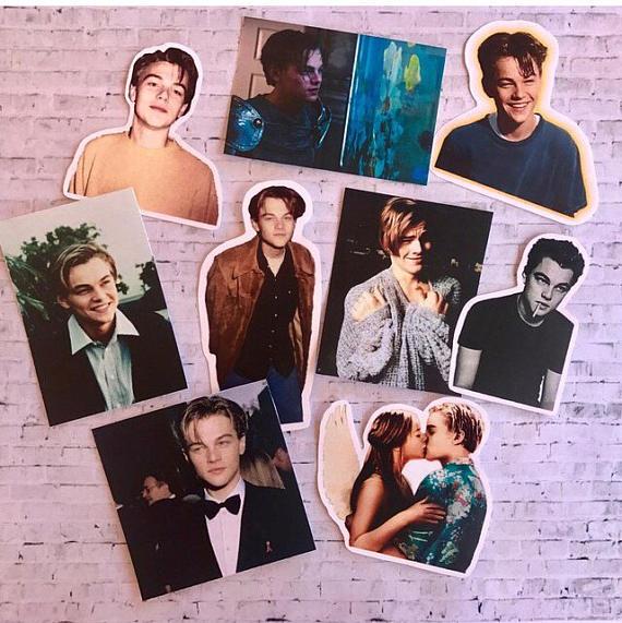 Leonardo DiCaprio Sticker Set Christmas Gift Idea