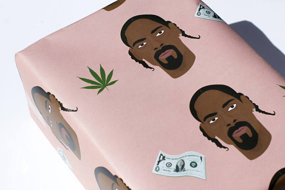 Snoop Dogg Wrapping paper Christmas etsy finds