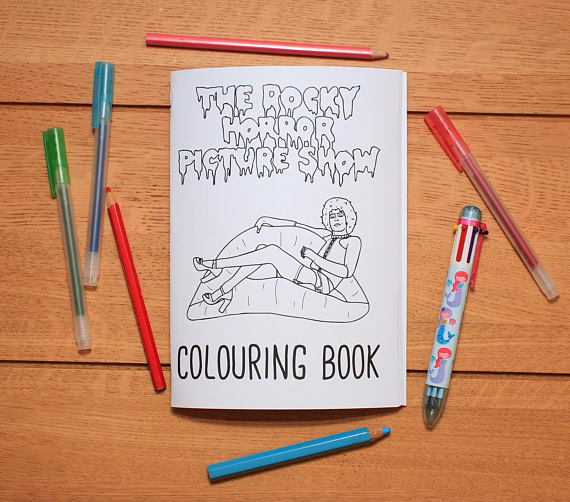 The Rocky Horror Picture Show Coloring Book Etsy Christmas Gift Idea