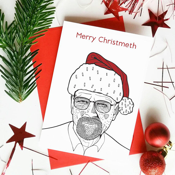 walter white breaking bad christmas card
