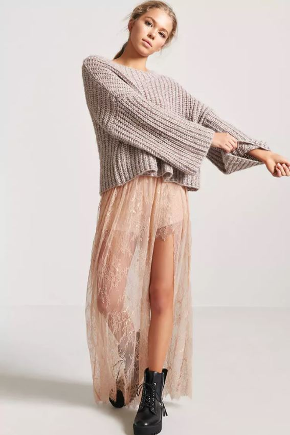 Stevie Nicks Get The Look Pink Lace Skirt Forever 21