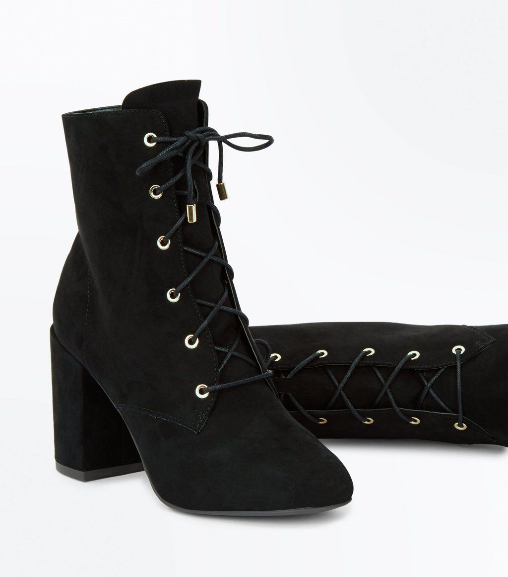 black lace up suedette boots stevie nicks get the look